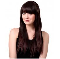 Женский парик цвета мокко
