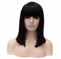 """Черный женский парик с челкой """"Rozetta"""""""