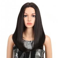 Шелковистый парик без челки на сетке термостойкий