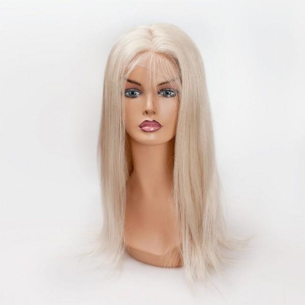 Натуральный длинный парик блонд