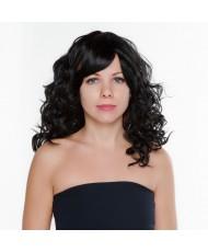 Густой кудрявый парик черного цвета