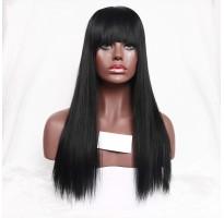 Дерзкий парик с челкой из высококачественных искусственных волос