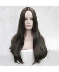 Высококачественный длинный парик без челки