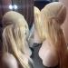 """Длинный парик из натуральных волос """"Cindy"""" цвет блонд"""