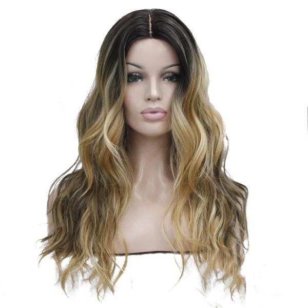 Волнистый длинный парик цвет омбре