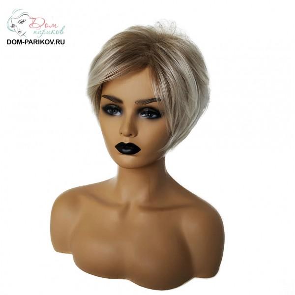 Эффектный короткий парик из синтетических волос