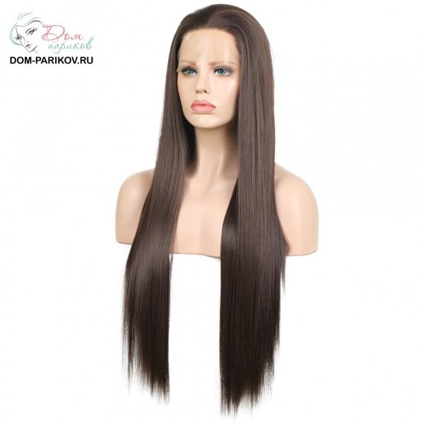 Потрясающий прямой парик без челки