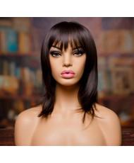 """Парик """"Натали"""" - прямые волосы с челкой H7728"""