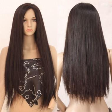 Очаровательный длинный парик с имитацией кожи головы