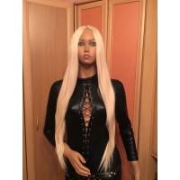 Длинный женский парик блонд карнавальный