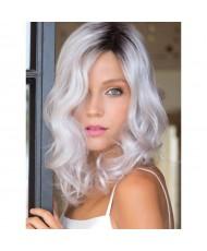 Волнистый парик блонд омбре без челки