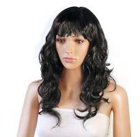 """Кудрявый черный парик с челкой """"Джулия"""""""