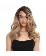 Волнистый парик блонд омбре на сетке без челки
