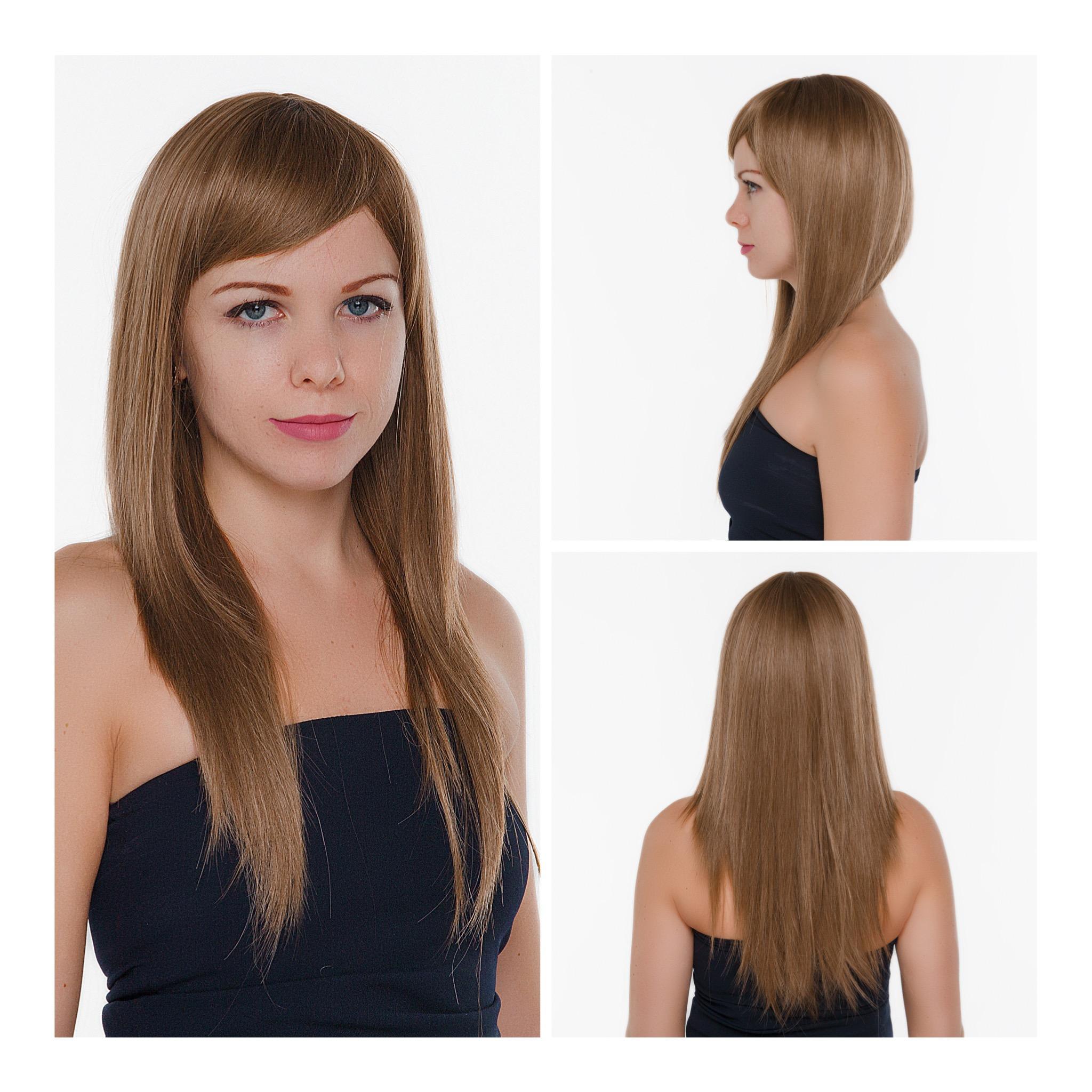 Русый парик с удлиненной челкой